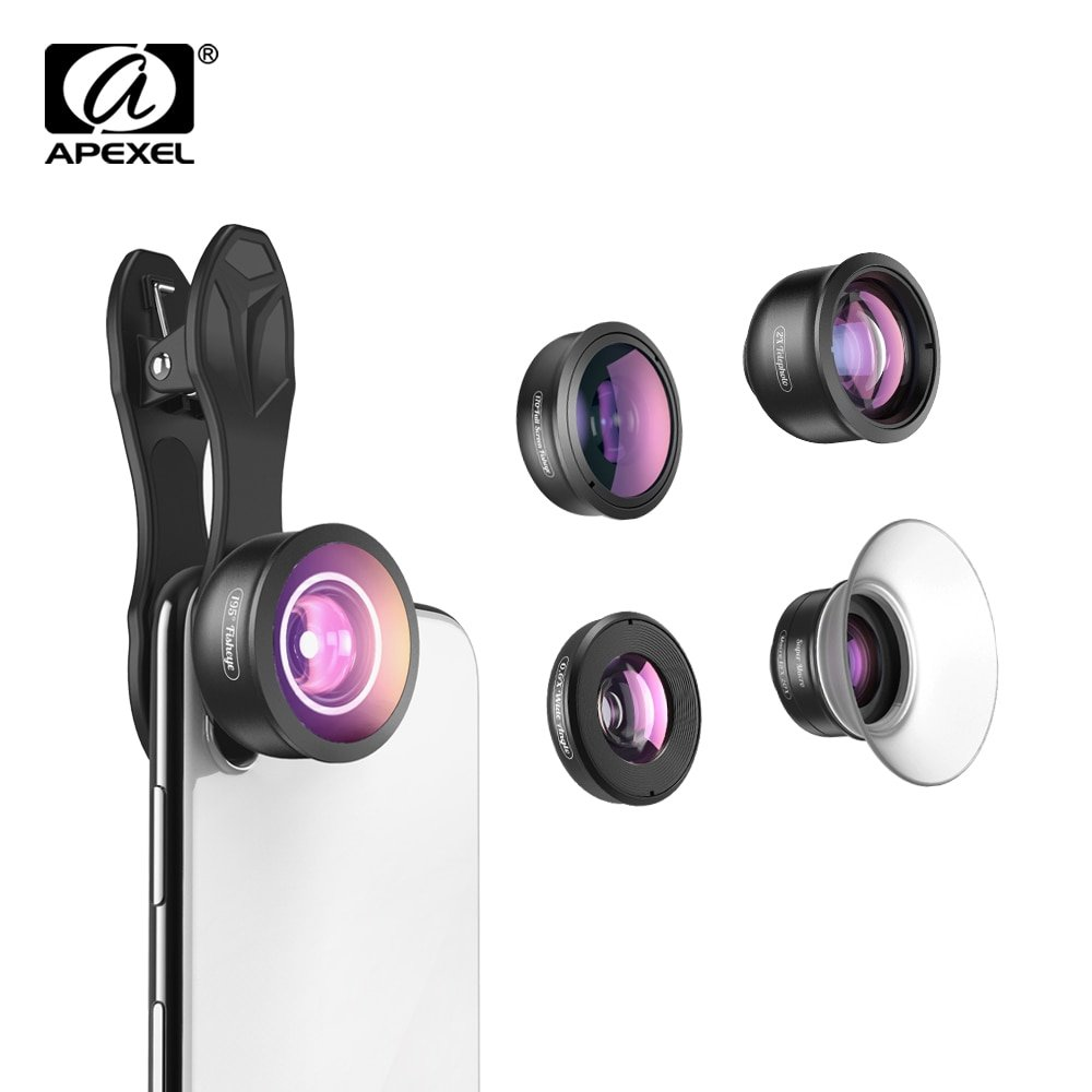 APEXEL 5 in 1 Camera Phone Lens Kit