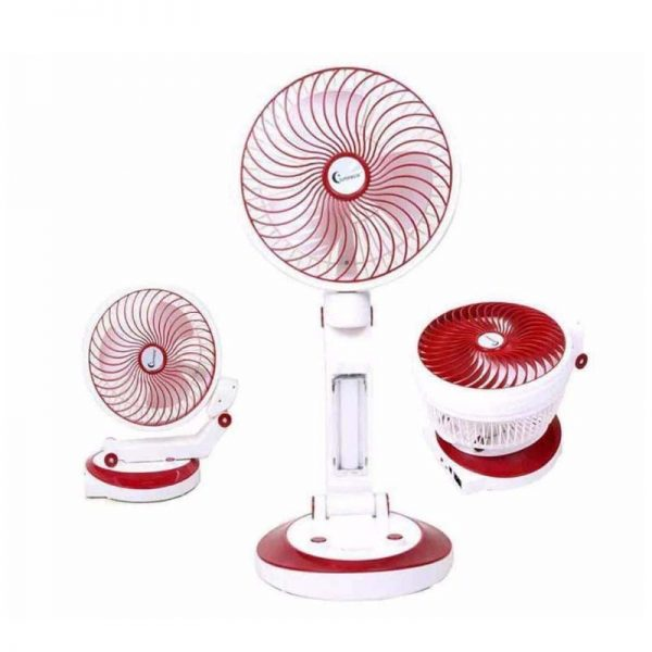Supermoon Rechargeable Folding Table Fan with Light Price in Bangladesh