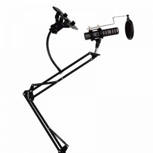 Microphone-Stand-With-Phone
