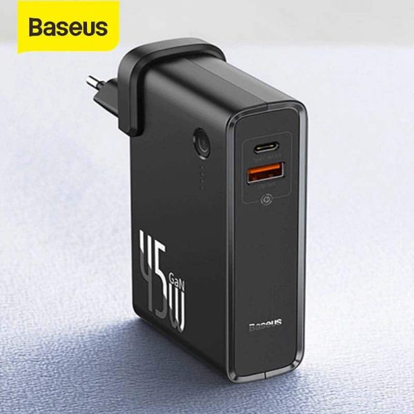 Baseus 45W 2 in 1 GaN PD Quick Charger & 10000mAh Power Bank