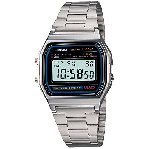 Casio A-158 WA-1DF Steel Digital Watch