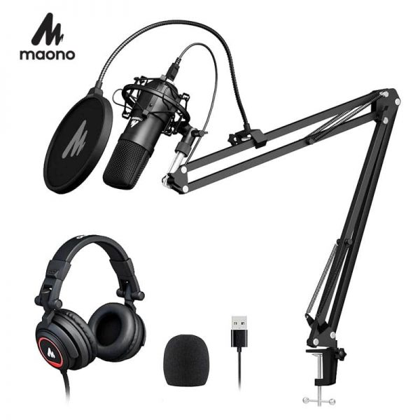 MAONO AU-A04H USB Microphone Set with Studio Headphone