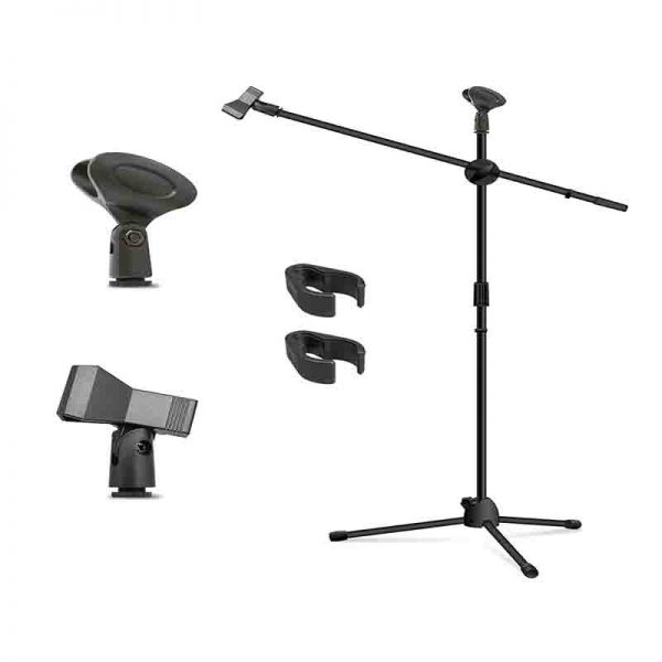 Microphone Tripod Stand Can hold two microphone Easy to adjust height and position Very High-Quality, Durable Metal Stand