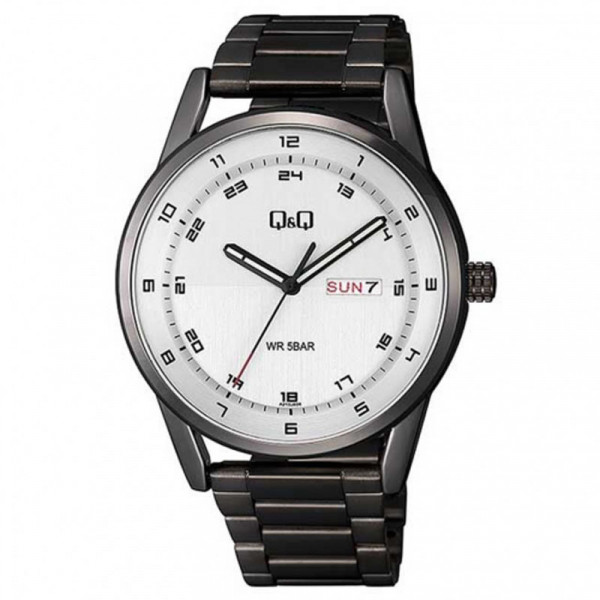 Q&Q A210J404Y Analog Day Date Wrist Watch for Men