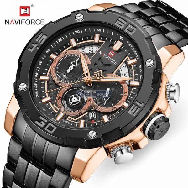 NAVIFORCE NF9175 Stainless Steel Chronograph Watch