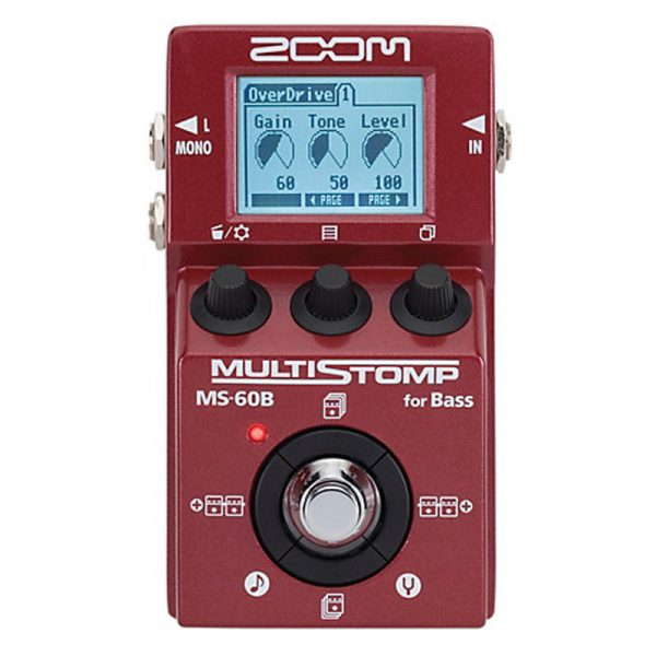 Zoom MS-60B Multi Stomp Bass Guitar Effects Pedal