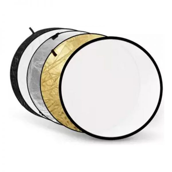 """5 in 1 Collapsible 80cm 43"""" Light Flash Studio Reflector Round Diffuser"""