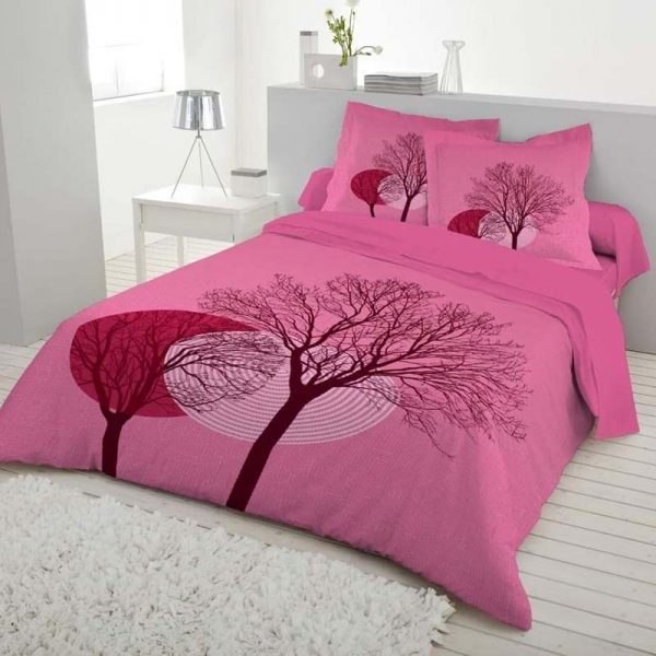 Luxury 3D Bedsheets King Size Pink Color