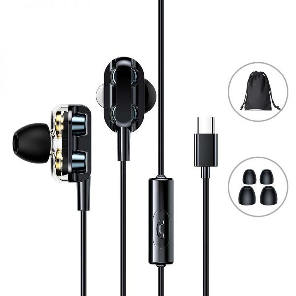 Joyroom JR-ED1 Dual Dynamic wired Type C Earphone