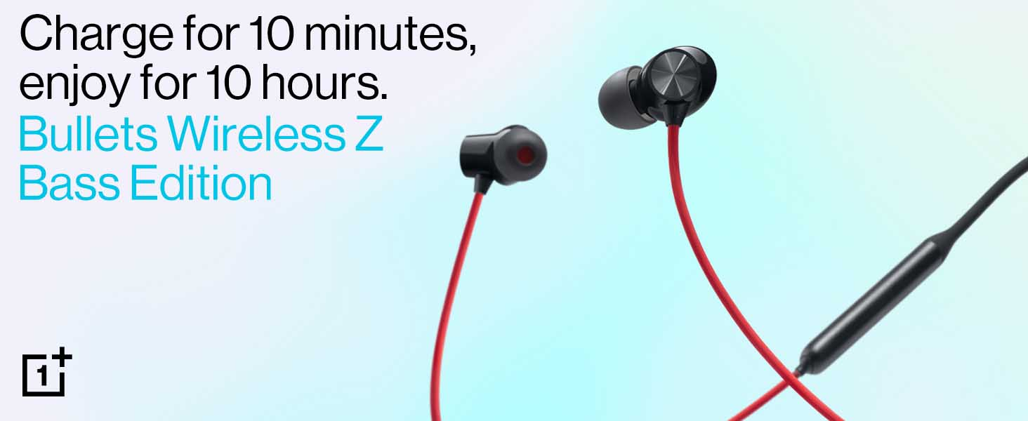 OnePlus Bullets Wireless Z Bass Edition (Reverb Red)