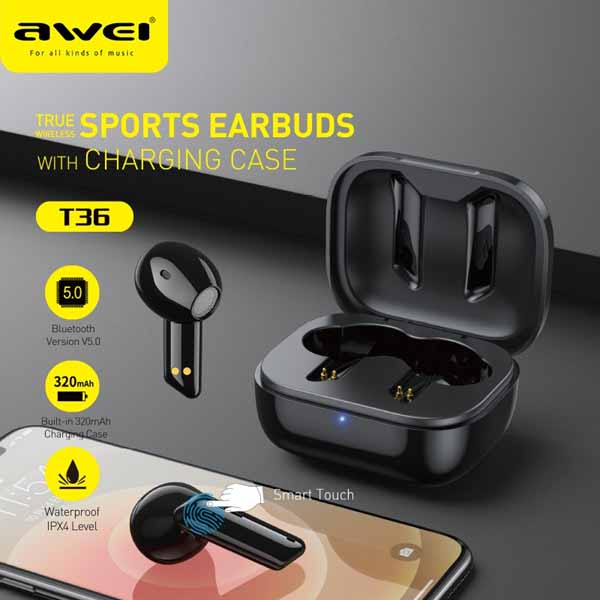 Awei T36 TWS Wireless Earbuds