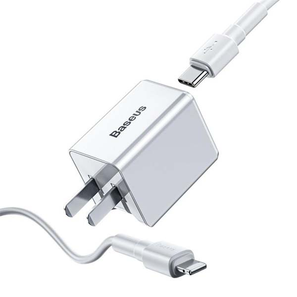 Baseus 18W Type-C PD3.0 Quick Charger with Lightning Cable TC-075PPS 1