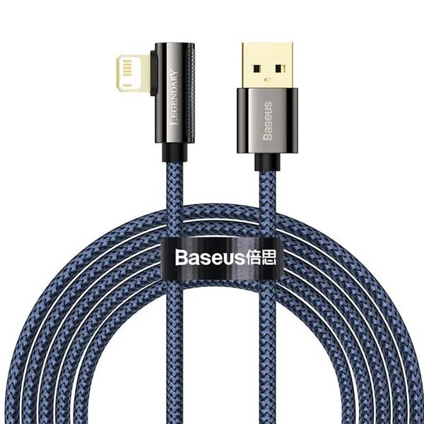 Baseus CACS000109 Legend Series Elbow Fast Charging Data Cable USB to iP 2.4A 2m Blue 1