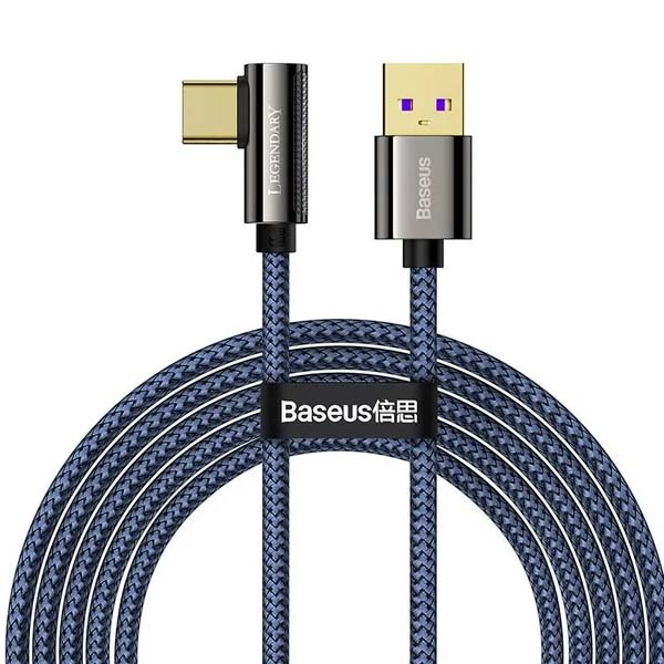 Baseus CACS000403 Legend Series Elbow Fast Charging Data Cable USB to Type-C 66W 1m Blue 1