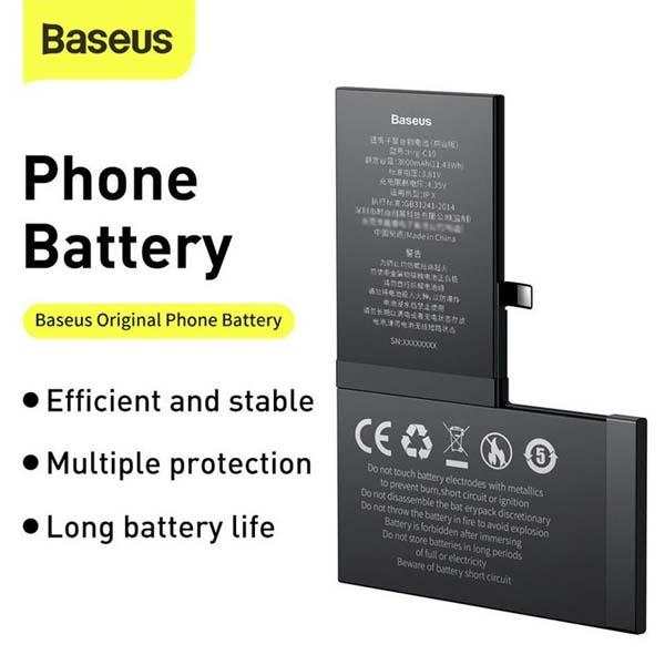 Baseus Original I Phone X Battery 3000mAh 1