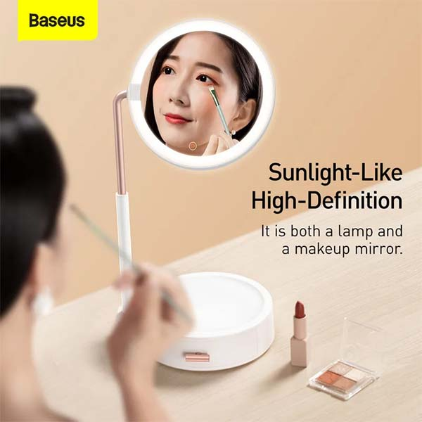 Baseus Smart Beauty Series Lighted Makeup Mirror with Adjustable Lamp Storage Box 1