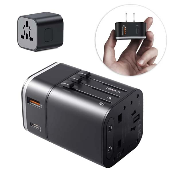 Baseus TZPPS-01 Removable 2 In 1 Universal Travel Adapter 1