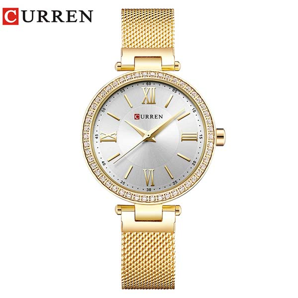 CURREN 9011 Mesh Stainless Steel Analog Watch For Women 1