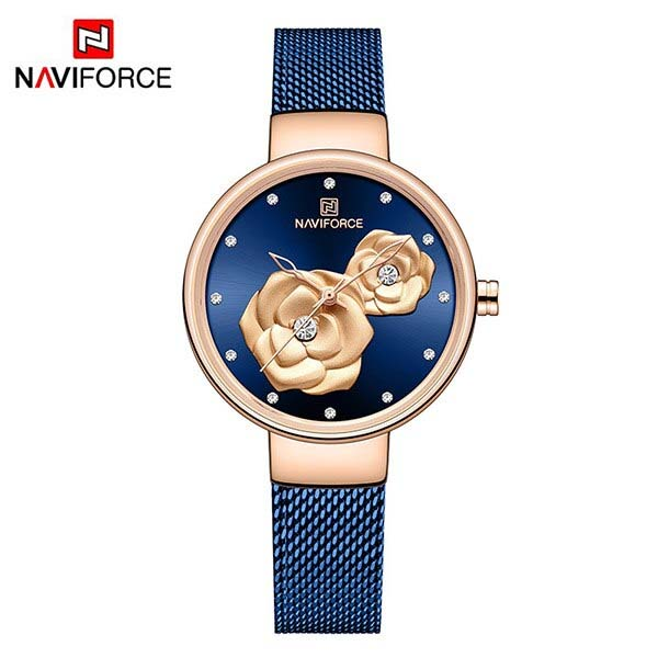 NAVIFORCE NF5013 Mesh Stainless Steel Analog Watch For Women 1