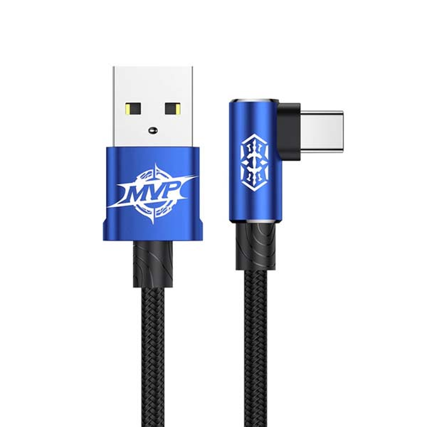 Baseus MVP Elbow Type Cable USB For Type-C 1.5A 2M (CATMVP-B03) – Blue 1